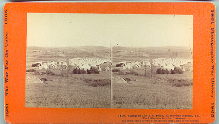 2410 Camp of the 31st. Penn. at Queens Farms, Va. Fort Slocum in the Distance.jpg (99644 bytes)