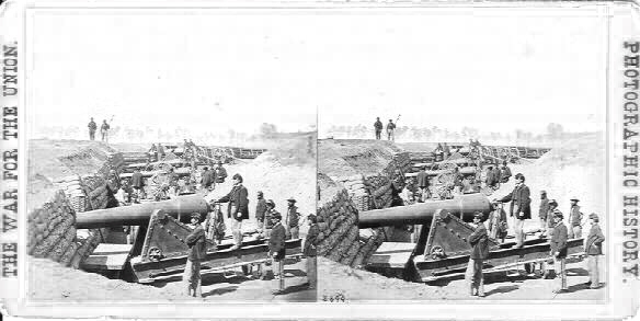 2699. FT. BRADY, JAMES RIVER, VA. VIEW SHOWING BATTERY READY FOR ACTION.jpg (34786 bytes)